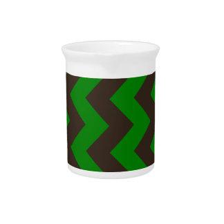 Zigzag I - Brown y verde Jarron