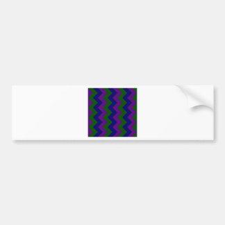 Zigzag I - Dark Blue, Dark Violet, Dark Green Bumper Stickers