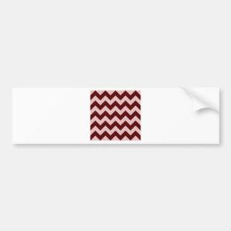Zigzag I - Dark Red and Pink Bumper Sticker