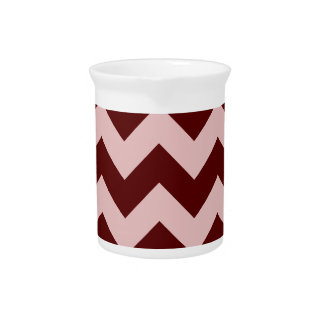 Zigzag I - Dark Red and Pink Drink Pitchers