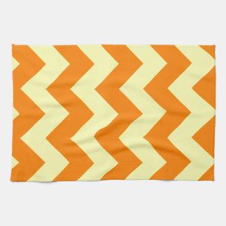 Zigzag I - Electric Yellow and Orange Hand Towel