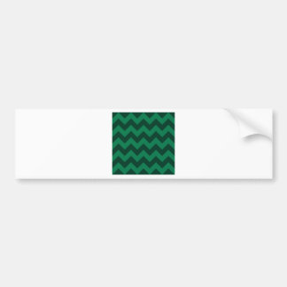 Zigzag I - Green and Dark Green Bumper Stickers