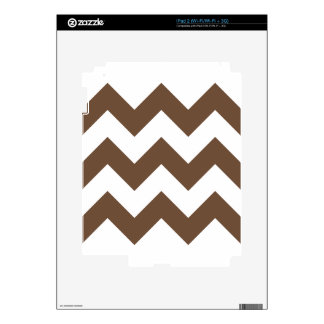 Zigzag I Large - White and Coffee Skin For The iPad 2