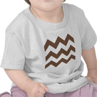 Zigzag I Large - White and Coffee Shirts