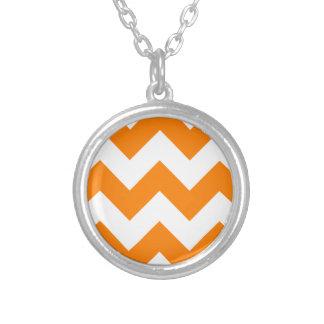 Zigzag I Large - White and Orange Custom Necklace