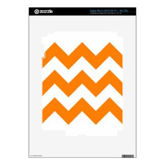 Zigzag I Large - White and Orange Decal For iPad 3