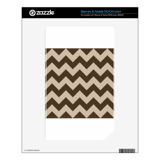 Zigzag I - Light Brown and Dark Brown Decal For The NOOK Color