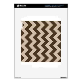 Zigzag I - Light Brown and Dark Brown Decals For iPad 3