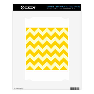Zigzag I - Light Yellow and Dark Yellow Decal For NOOK
