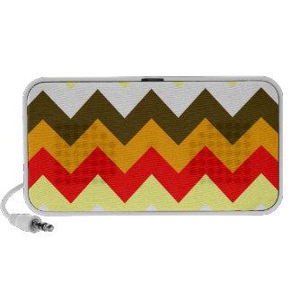 Zigzag I - Naranja, rojo, amarillo, blanco, Brown iPhone Altavoz