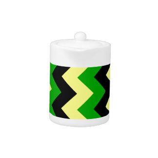 Zigzag I - Negro amarillo y verde
