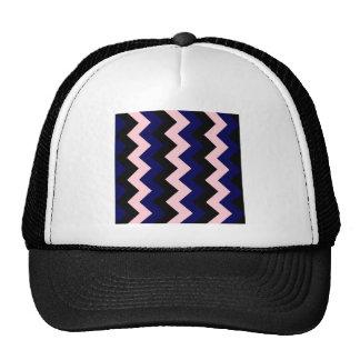 Zigzag I - Negro, rosado y azul marino Gorras De Camionero