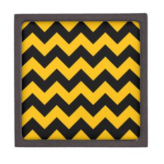 Zigzag I - Negro y ámbar Caja De Joyas De Calidad