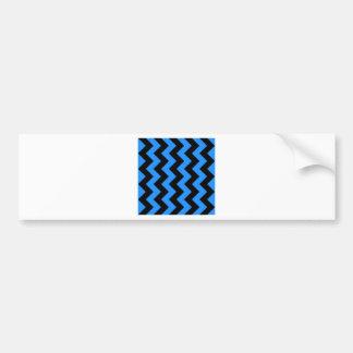 Zigzag I - Negro y azul de Dodger Etiqueta De Parachoque
