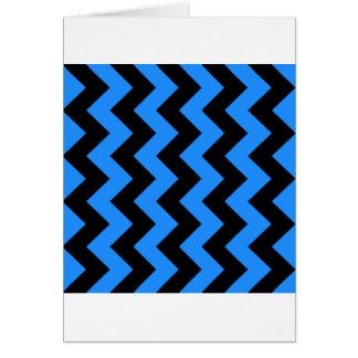 Zigzag I - Negro y azul de Dodger Tarjetón