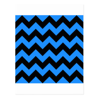 Zigzag I - Negro y azul de Dodger Postales