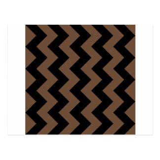 Zigzag I - Negro y café Tarjetas Postales