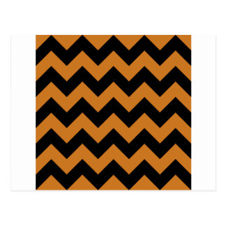 Zigzag I - Negro y ocre Tarjetas Postales