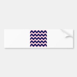 Zigzag I - Pink and Dark Blue Bumper Sticker
