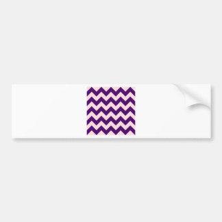 Zigzag I - Pink and Dark Violet Bumper Sticker