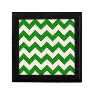 Zigzag I - Pink and Green Keepsake Box
