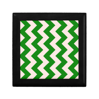 Zigzag I - Pink and Green Keepsake Boxes