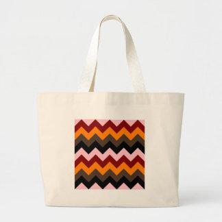 Zigzag I - Pink, Red, Orange, Brown, Black Bag