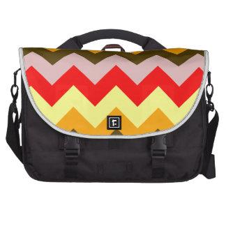 Zigzag I - Pink, Red, Yellow, Orange, Brown Laptop Messenger Bag