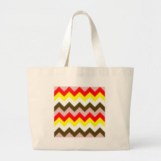 Zigzag I - Pink, Red, Yellow, White, Brown Bag