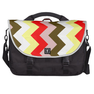 Zigzag I - Pink, Red, Yellow, White, Brown Laptop Commuter Bag