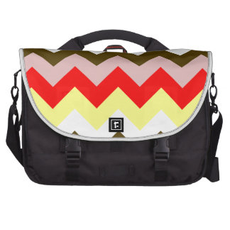 Zigzag I - Pink, Red, Yellow, White, Brown Computer Bag