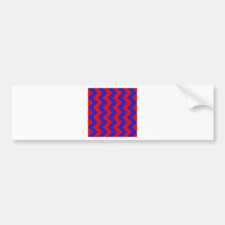Zigzag I - Red and Blue Bumper Stickers