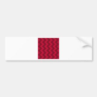 Zigzag I - Red and Dark Red Bumper Stickers