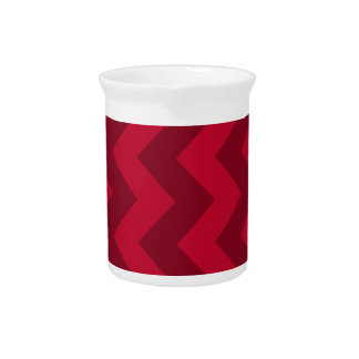 Zigzag I - Red and Dark Red Pitcher