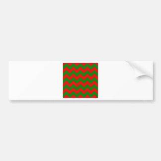Zigzag I - Red and Green Bumper Sticker
