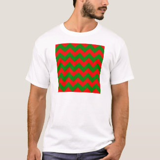Zigzag I - Red and Green T-Shirt