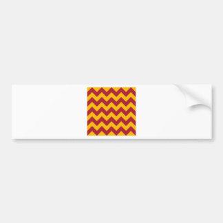Zigzag I - Red and Orange Bumper Stickers