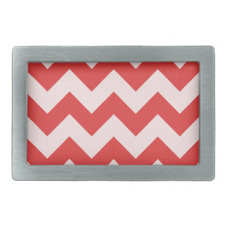 Zigzag I - Red and Pink Rectangular Belt Buckles