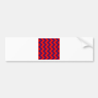 Zigzag I - Red and Violet Bumper Stickers