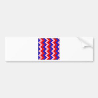 Zigzag I - Red, Blue, Pink Bumper Stickers