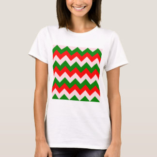 Zigzag I - Red, Green, Pink T-Shirt