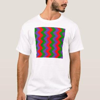 Zigzag I - Red, Green, Violet T-Shirt