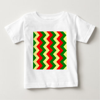 Zigzag I - Red, Green, Yellow Baby T-Shirt