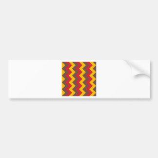 Zigzag I - Red, Orange, Brown Bumper Sticker