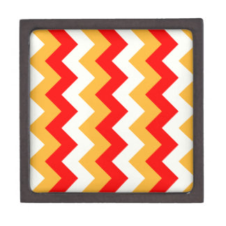 Zigzag I - Rojo, amarillo, naranja Caja De Joyas De Calidad