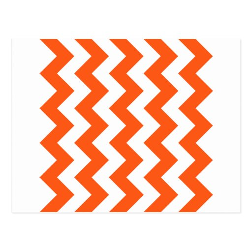 Zigzag I - Rojo en colores pastel blanco y oscuro Postales