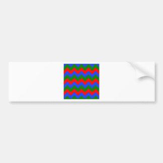 Zigzag I - Rojo, verde, azul Pegatina Para Auto