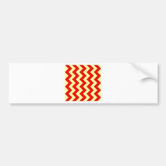Zigzag I - Rojo y amarillo Pegatina Para Auto