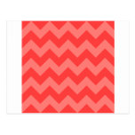 Zigzag I - Rojo y rojo claro Postal
