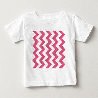 Zigzag I - Rosa blanco y oscuro Poleras